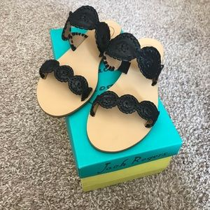 BRAND NEW in box black Lauren Jack Rogers Sandals